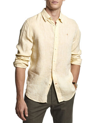 Morris Douglas Linen Shirt 11 Yellow