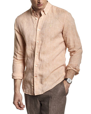Morris Douglas Linen Shirt 21 Orange