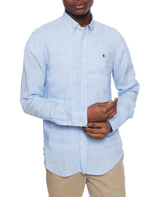 Morris Douglas Linen Shirt 55 Light Blue