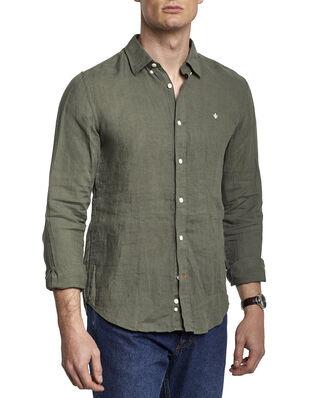 Morris Douglas Linen Shirt 76 Olive
