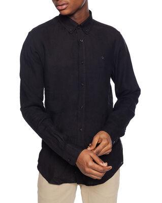 Morris Douglas Linen Shirt 99 Black
