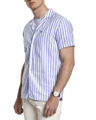 Morris Theo Bowling Shirt 56 Blue