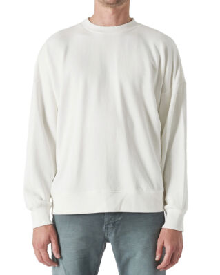NEUW Grin Stitch Crew Off White