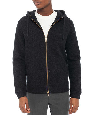 NN07 Boiled Wool Hoodie 6426 Antracite Grey Mel