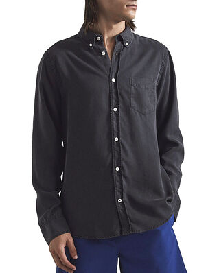 NN07 Manza Slim Lyocell Shirt Black