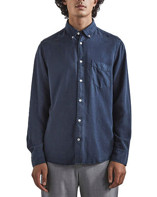 NN07 Manza Slim Lyocell Shirt Navy Blue