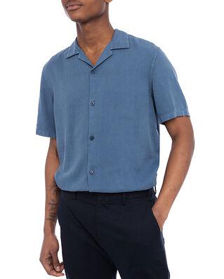 NN07 Miyagi Lyocell Linen Shirt Washed Navy
