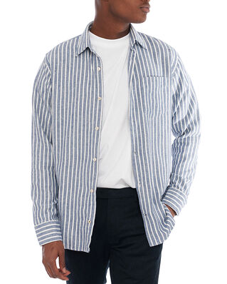 NN07 Errico Shirt 5166 Navy Stripe