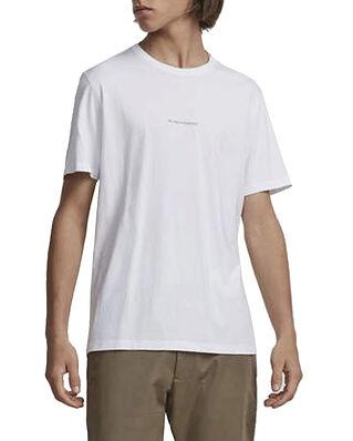 NN07 Ethan Print Tee 3208 White