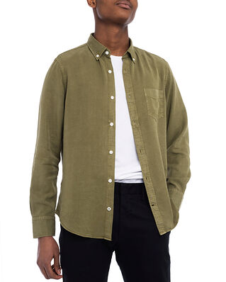 NN07 Manza Slim 5969 Lyocell Shirt Leaf Green