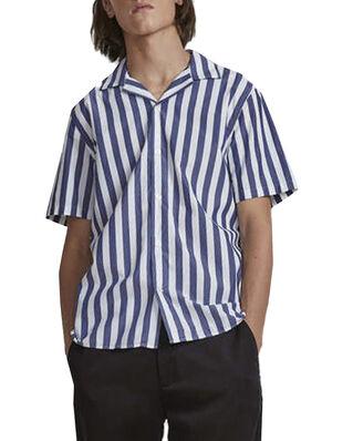 NN07 Miyagi Short 5203 Navy Stripe