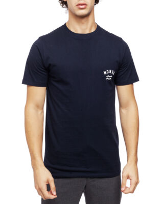Norse Projects Niels Ivy Wave Logo Dark Navy