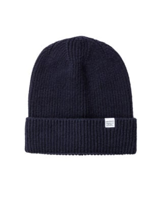 Norse Projects Norse High Top Beanie Dark Navy