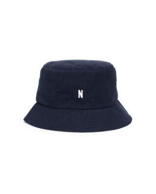 Norse Projects Seersucker Bucket Hat Dark Navy