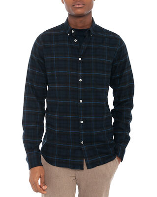 Norse Projects Anton Brushed Flannel Check Navy Check