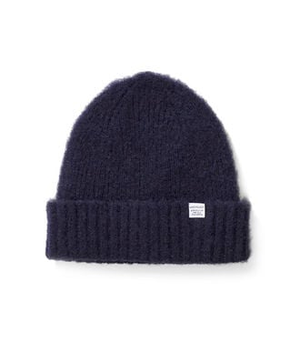 Norse Projects Brushed Lambswool Beanie Dark Navy