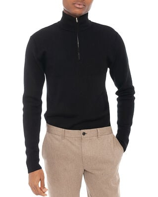 Norse Projects Fjord Half Zip Merino Black