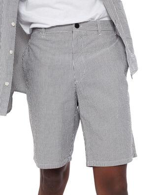 Norse Projects Aros Seersucker Shorts Navy Stripe