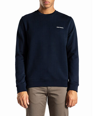 Norse Projects Vagn Logo Dark Navy / White
