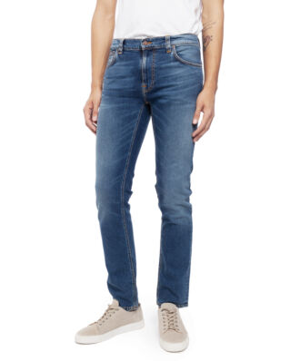 Nudie Jeans Thin Finn Mid Blue Ecru