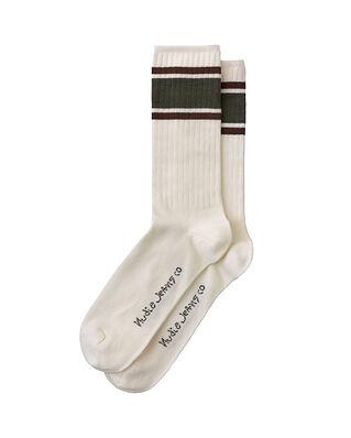 Nudie Jeans Amundsson Sport Socks Offwhite/Olive