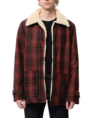 Nudie Jeans Mangan Lumber Jacket Brick Red