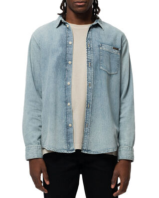 Nudie Jeans Albert Light Structure Blue