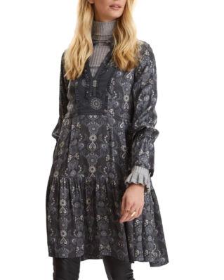 Odd Molly Brilliant & Brave Short Dress Asphalt