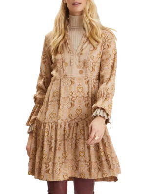 Odd Molly Brilliant & Brave Short Dress Light Taupe
