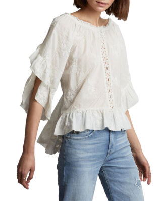 Odd Molly Clever Heart Blouse Offwhite
