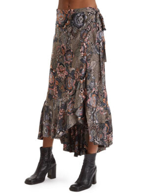 Odd Molly Extravaganca Wrap Skirt Walnut Brown