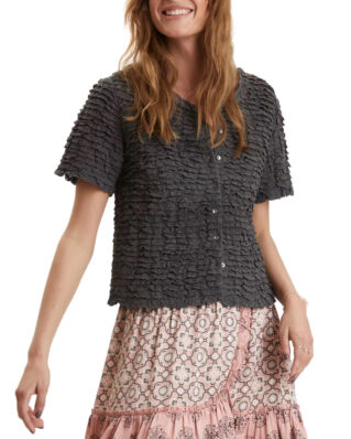 Odd Molly  Frill Princess Blouse Asphalt