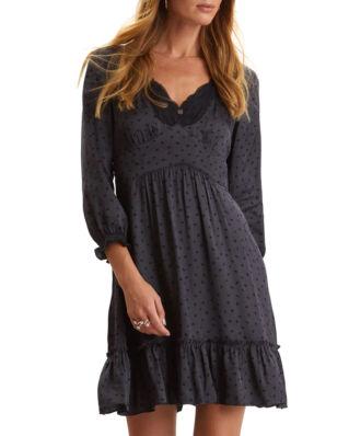 Odd Molly Hello New Love Dress Almost Black
