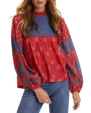 Odd Molly La Vie Boheme Blouse Red Raspberry