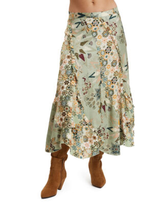 Odd Molly Molly-Hooked Skirt Lichen Green