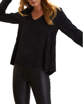 Odd Molly Puzzle Me Together Blouse Almost Black