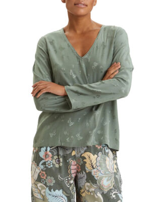 Odd Molly Puzzle Me Together Blouse Cargo Green