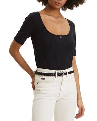 Odd Molly Exquisite Top Almost Black