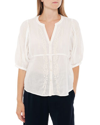Odd Molly Mariah Blouse Light Chalk Solid