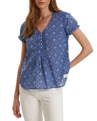 Odd Molly Perfect Print Blouse Vivid Blue