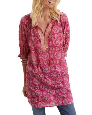 Odd Molly Wov Woven Tunic Brilliant Cerise