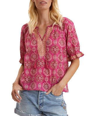 Odd Molly Wow Woven Blouse Brilliant Cerise