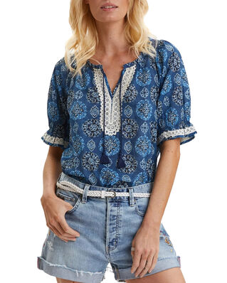 Odd Molly Wow Woven Blouse Stormy Blue
