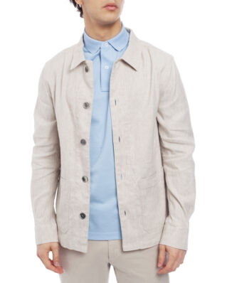 Oscar Jacobson Hannes Shirt Jacket Wash Light Beige