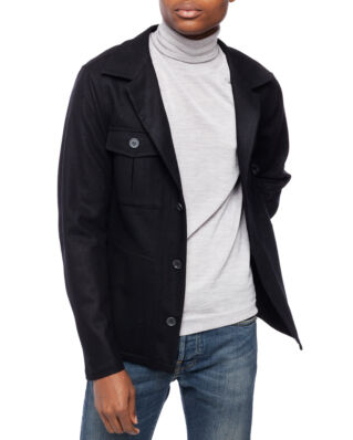 Oscar Jacobson Holger shirt Jacket Black