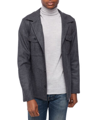Oscar Jacobson Holger shirt Jacket Dark Grey