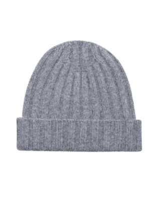 Oscar Jacobson Knitted Hat Grey Melange