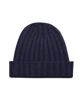 Oscar Jacobson Knitted Hat Navy