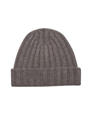 Oscar Jacobson Knitted Hat Walnut Beige