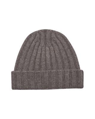 Oscar Jacobson Knitted Hat Walnut Beige
